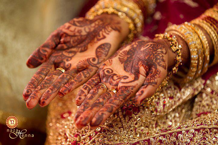 dark henna stain