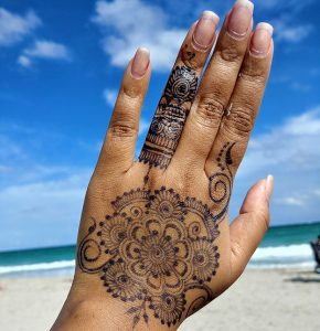 Jagua not black henna tattoo