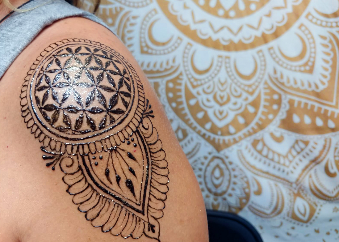 sacred geometry flower of life henna