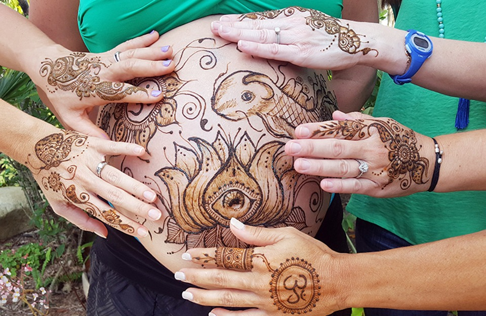 Prenatal Belly Blessing Henna for Expecting Moms